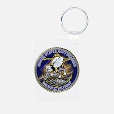 US Navy Seabees We Fight Gold Aluminum Photo Keych