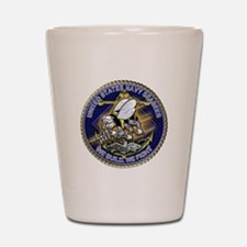 US Navy Seabees We Fight Gold Shot Glass