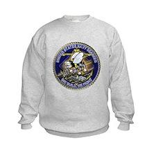 US Navy Seabees We Fight Gold Sweatshirt
