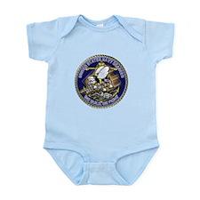 US Navy Seabees We Fight Gold Infant Bodysuit