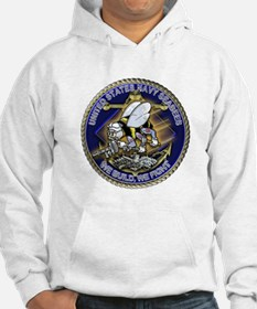 US Navy Seabees We Fight Gold Hoodie