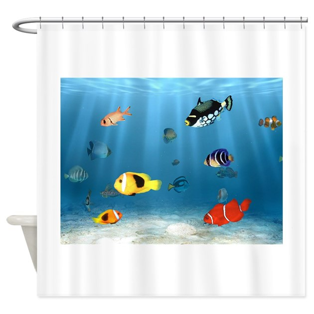 Oceans Of Fish Shower Curtain By Bonfiredesigns