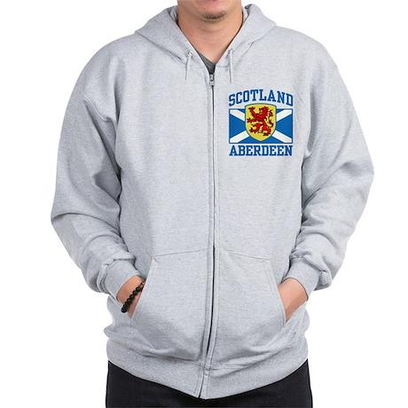 Aberdeen Scotland Zip Hoodie