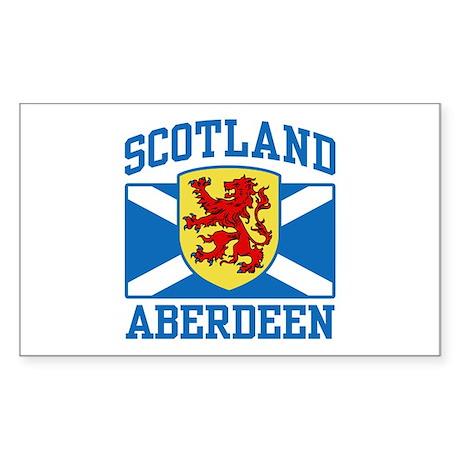 Aberdeen Scotland Sticker (Rectangle)