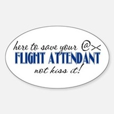 Flight Attendant Here to Save (blue) Decal