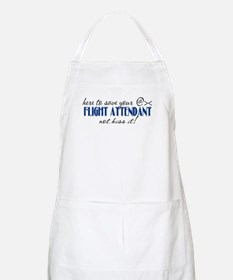 Flight Attendant Here to Save (blue) BBQ Apron