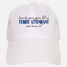 Flight Attendant Here to Save (blue) Baseball Baseball Cap