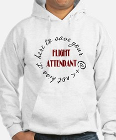 Flight Attendant here to(red) Hoodie