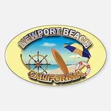Newport Beach, CA Sticker (Oval)
