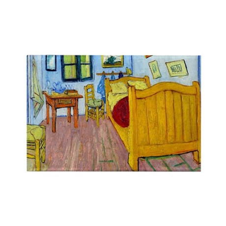 van gogh bedroom at arles rectangle magnet by designdivagifts2