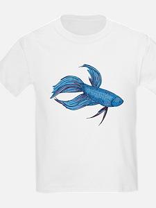 Siamese Fighter (Beta Fish) Kids T-Shirt