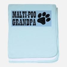 Maltipoo Grandpa baby blanket