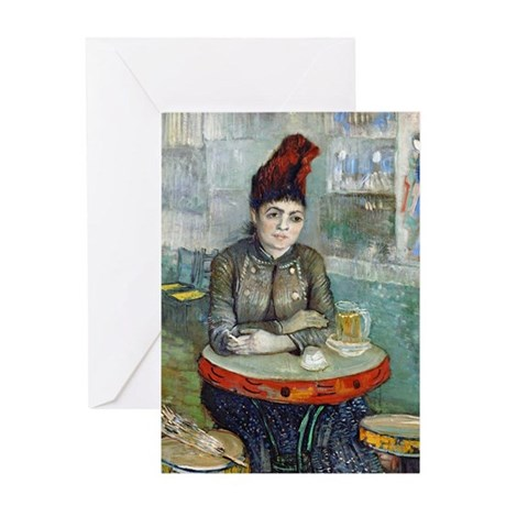 Van Gogh - In The Cafe Greeting Card