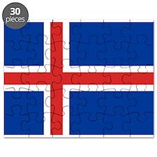 Iceland Flag Puzzle