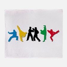 Tae Kwon Do Kicks Throw Blanket