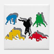 Wrestling Tile Coaster