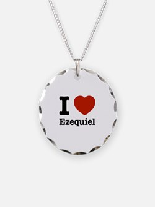 I love Ezequiel Necklace