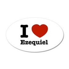 I love Ezequiel 38.5 x 24.5 Oval Wall Peel