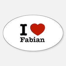 I love Fabian Decal