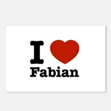 I love Fabian Postcards (Package of 8)