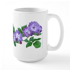 Blue Climbing Roses Large Mug