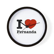 I love Fernanda Wall Clock