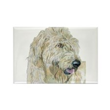 Cream Labradoodle #3 Rectangle Magnet