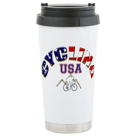USA Cycling Stainless Steel Travel Mug