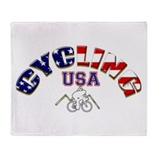 USA Cycling Throw Blanket
