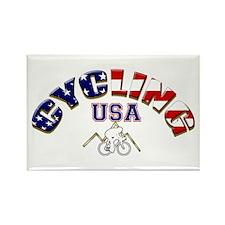 USA Cycling Rectangle Magnet
