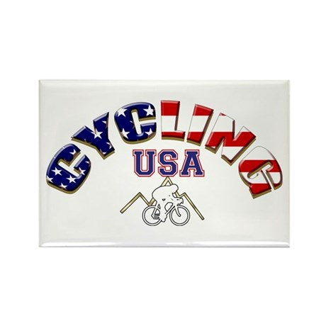 USA Cycling Rectangle Magnet (100 pack)