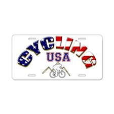 USA Cycling Aluminum License Plate