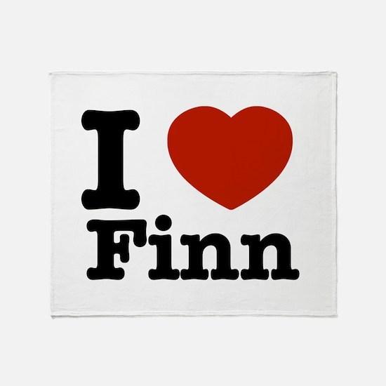 I love Finn Throw Blanket