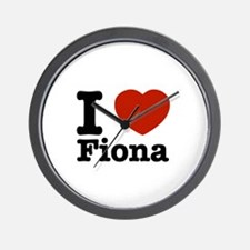 I love Fiona Wall Clock