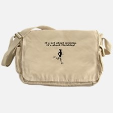 Cute Marathon runner Messenger Bag
