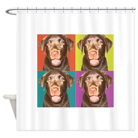 Puppy Pop Art Shower Curtain