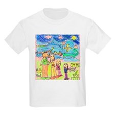 Tiana's family in the Mountai Kids T-Shirt