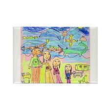 Tiana's family in the Mountai Rectangle Magnet
