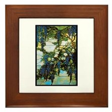 Wistaria by Tiffany Framed Tile