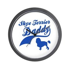 Skye Terrier Daddy Wall Clock