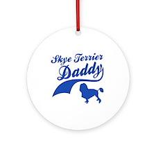 Skye Terrier Daddy Ornament (Round)