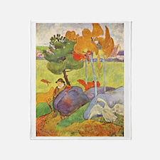 Rural France, Gauguin Throw Blanket