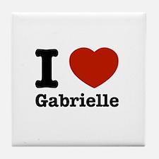 I love Gabrielle Tile Coaster