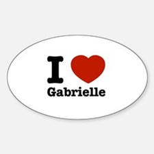 I love Gabrielle Sticker (Oval)