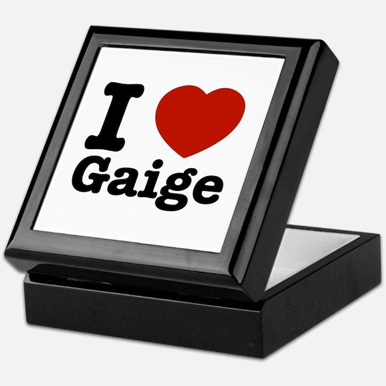 I love Gaige Keepsake Box