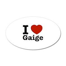 I love Gaige 22x14 Oval Wall Peel