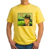 Disc golf Mens Classic Yellow T-Shirts