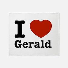I love Gerald Throw Blanket