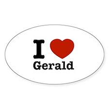 I love Gerald Decal