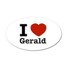 I love Gerald 38.5 x 24.5 Oval Wall Peel